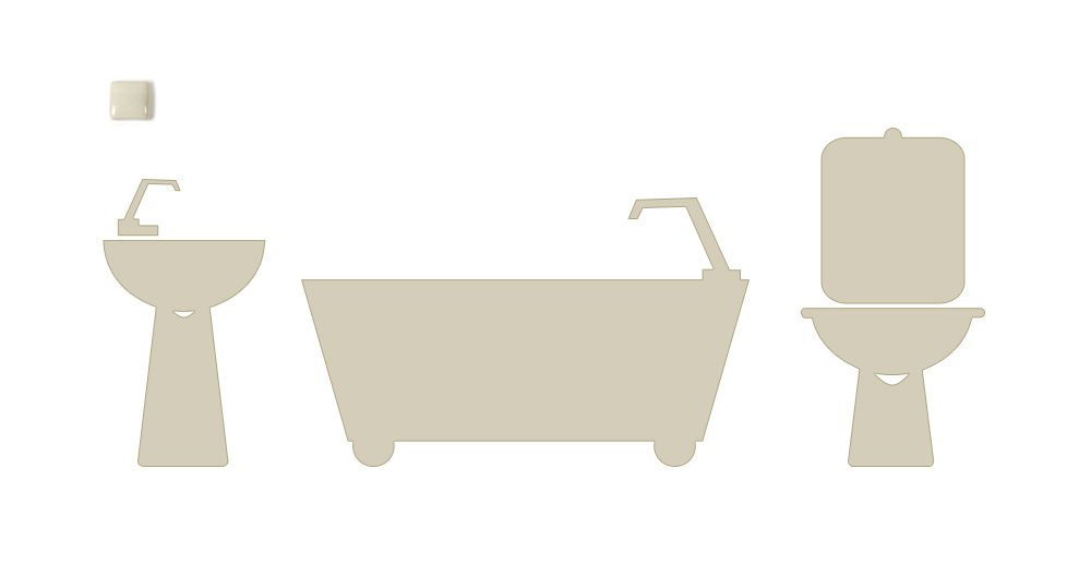 Pergamon Coloured Bathroom Discontinued Coloured