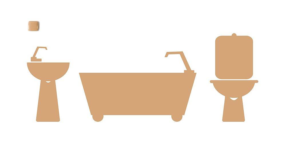 Sun King Coloured Bathroom - Discontinued Coloured